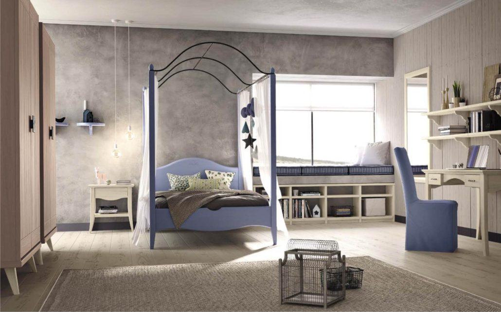 Riscoprire il letto a baldacchino per la cameretta romatnica