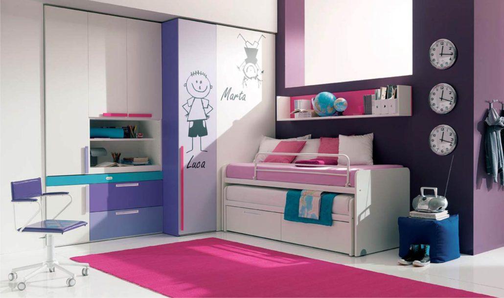 Camerette Per Bambini Letti Scorrevoli.Camerette Con Letti Scorrevoli A Mini Castello Camerette Per Bambini