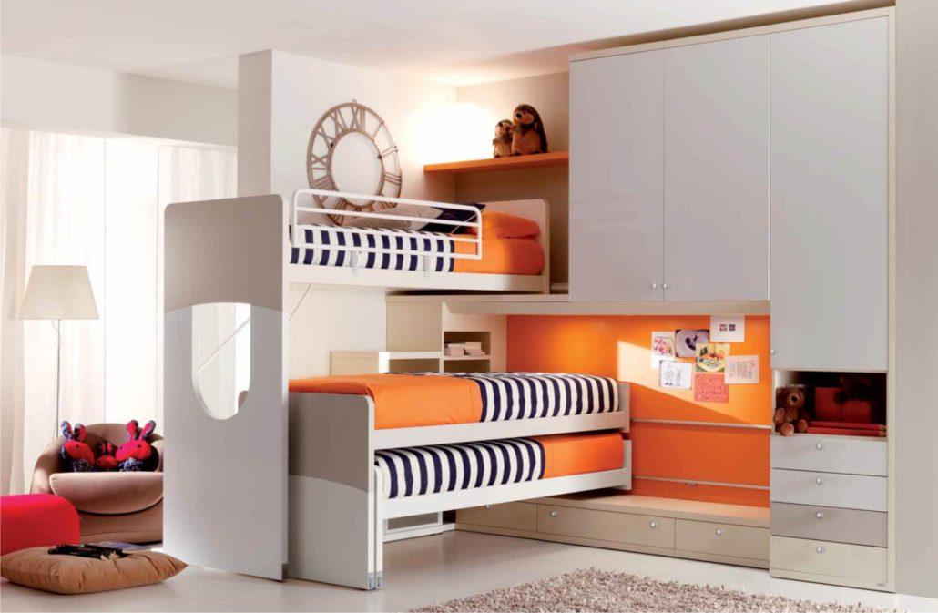 castelponte angolare per tre arancione