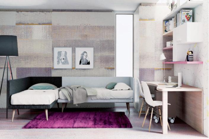 Letti formato divano ad angolo