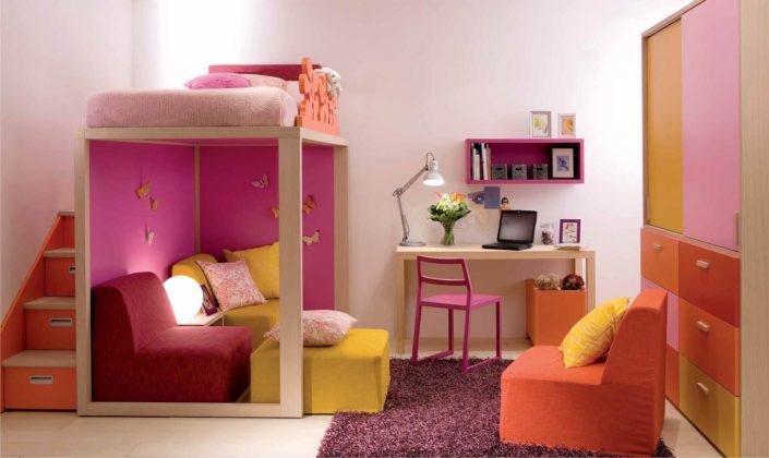 castello rosa con spazio gioco