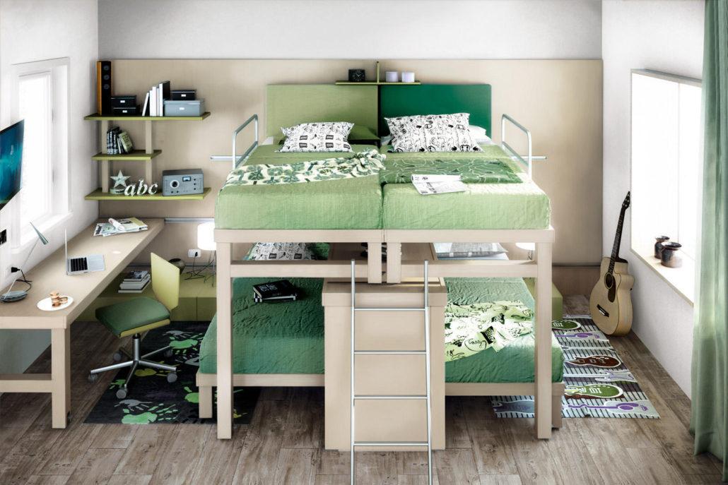 Camerette con tre letti | Camerette per Bambini