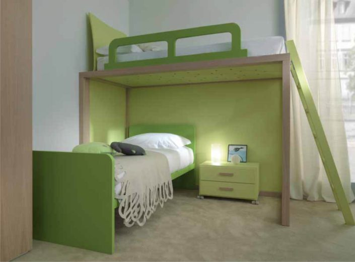 camera con castello verde