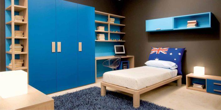 Camerette azzurre e blu i colori dell 39 acqua e del cielo - Arredamento camera ragazzo ...