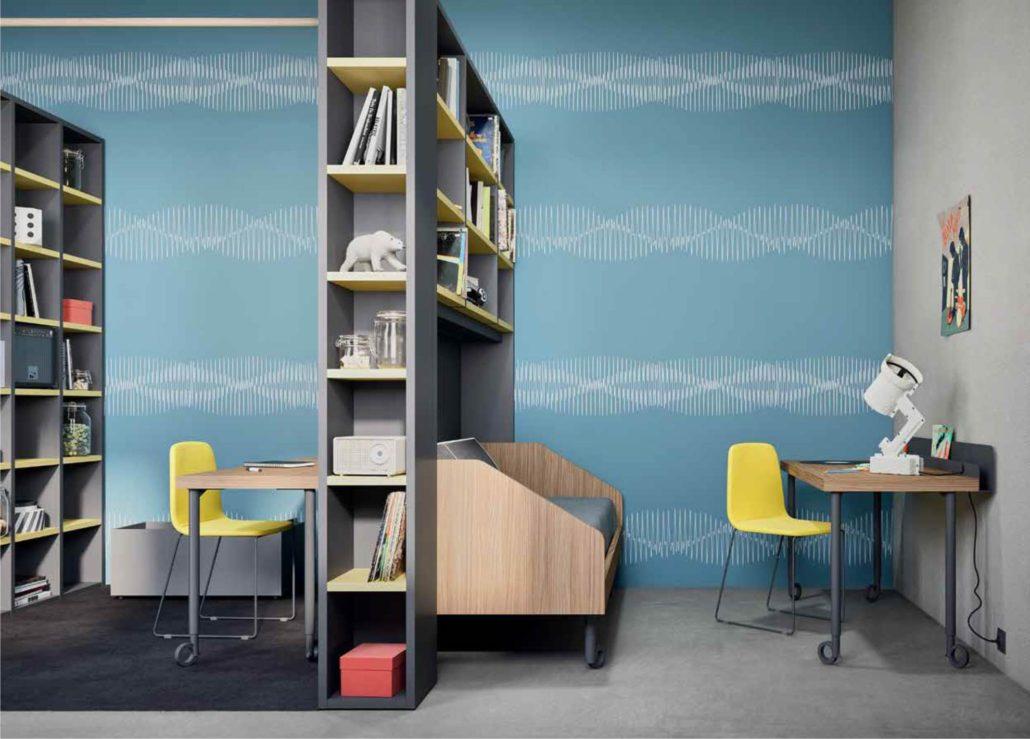 La libreria bifacciale in cameretta