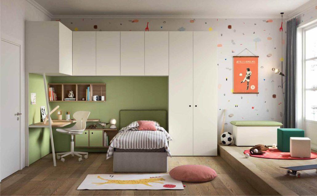 Camerette verdi soluzioni per bambini e per ragazzi for Decorare una stanza per bambini