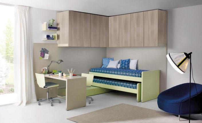 Cameretta verde e legno Tiramolla