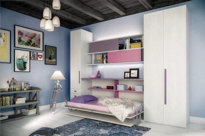 Camera con letto singolo nascondibile