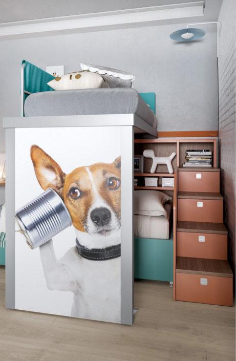 Soppalco in stile grafico dog