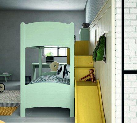 lo scivolo e il letto a soppalco
