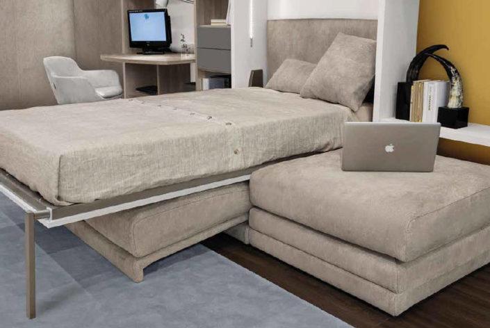 Un soggiorno completo di letto