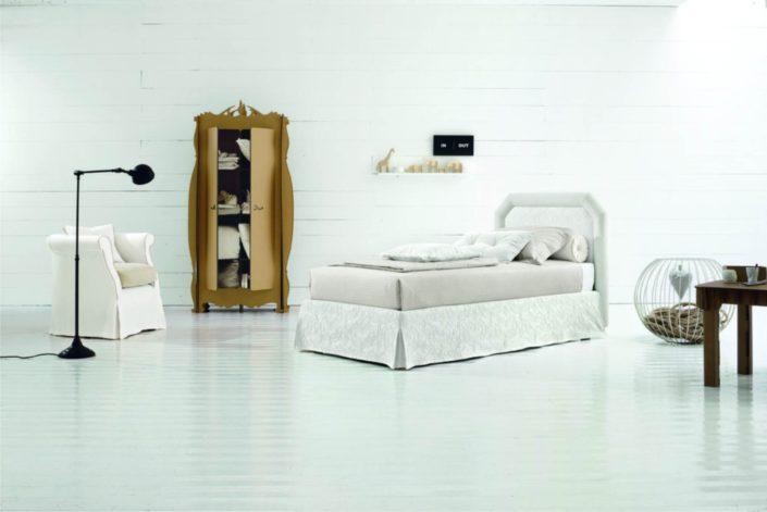 letto bianco classico