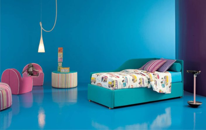 divano maya in tessuto azzurro