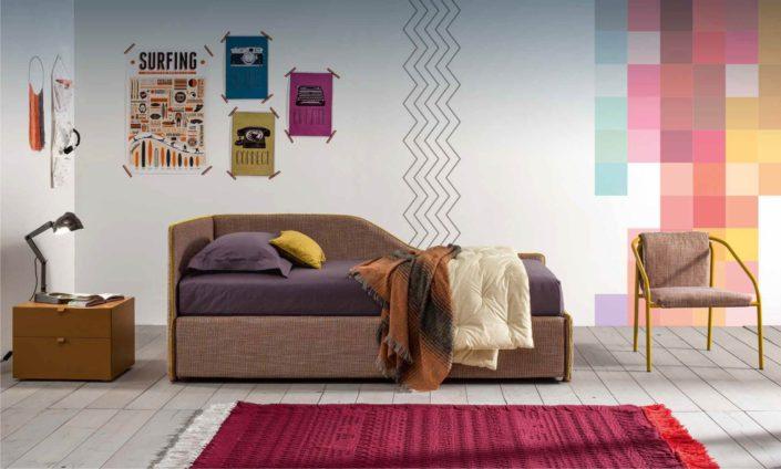 divano sagomato tessile