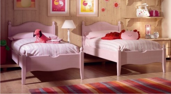 due letti rosa